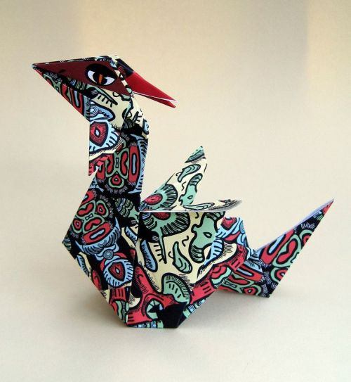 How to make a red Chinese dragon. 3D origami tutorial (instruction ... | 543x500