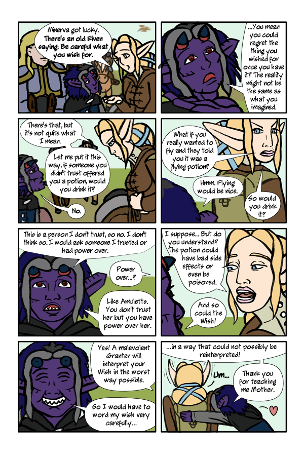 Pg 85: Be Careful What You Wish For