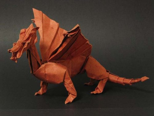 Medieval origami Dragon