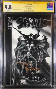 Spawn 1 Black and White 1st Print CGC 9.8 Signature Series