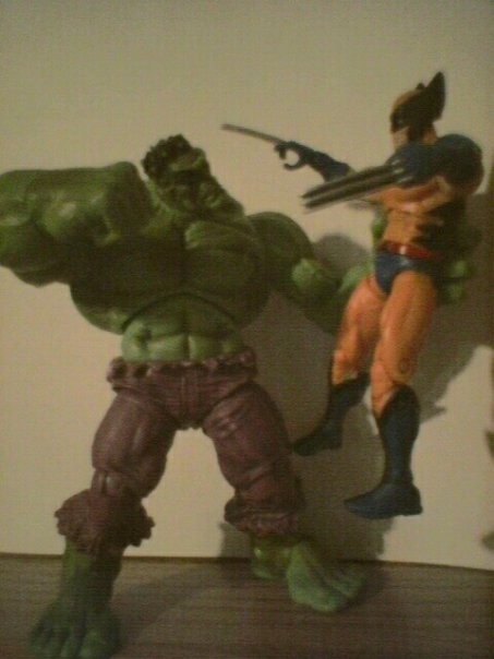 "3.75""-scale Hulk vs. Wolverine"