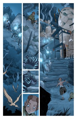 Page of Isola comic book, colored by Diana Sousa