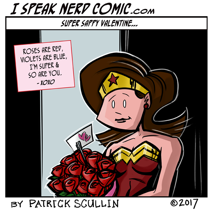 I Speak Nerd Comic Strip Super Sappy Valentine