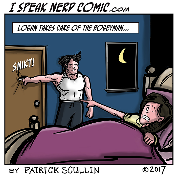 I Speak Nerd Comic Strip Logan vs the Bogeyman