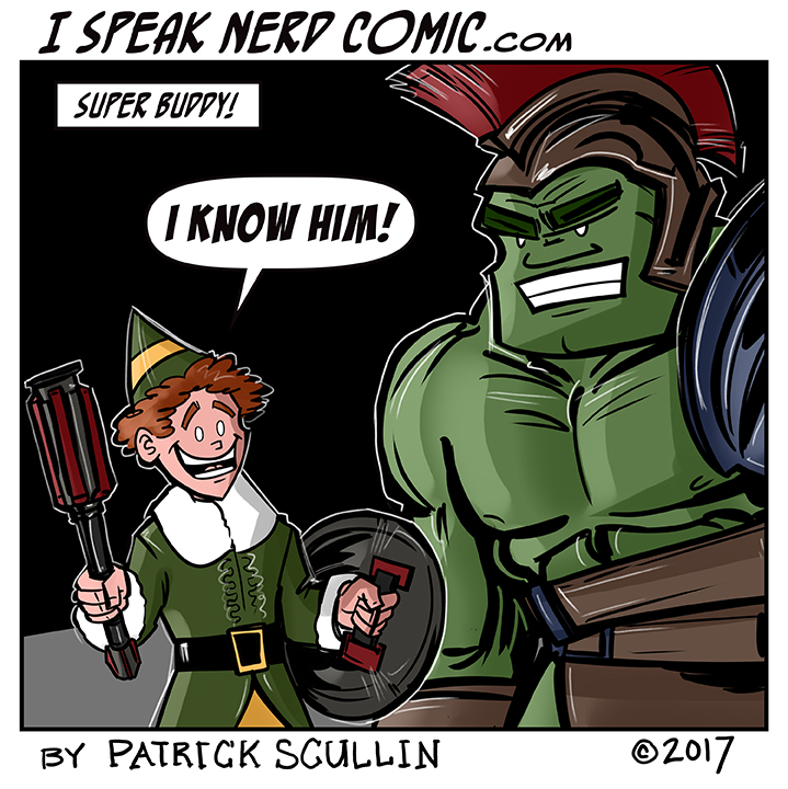 I Speak Nerd Comic Strip Super Buddy the Elf