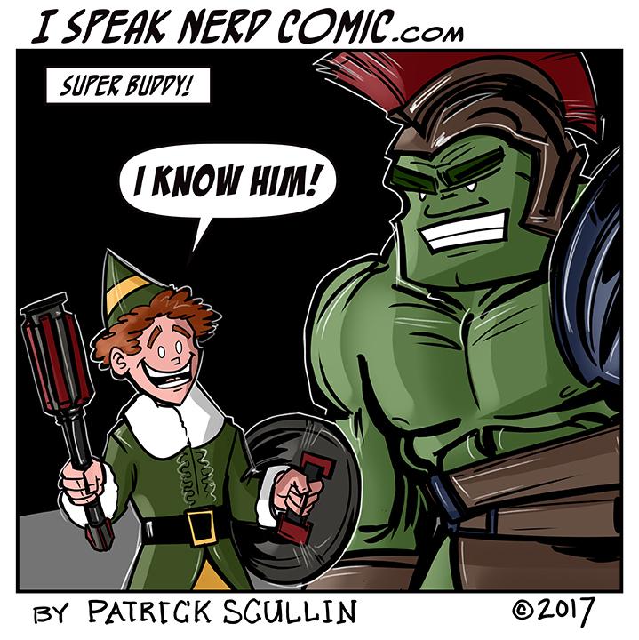 I Speak Nerd Comic Strip Super Buddy the Elf