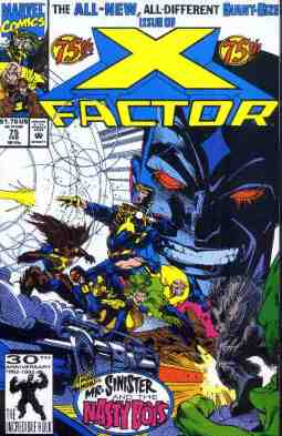 X-Factor comic book cover #75