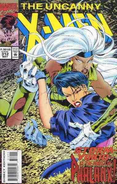 Uncanny X-Men comic book cover #312