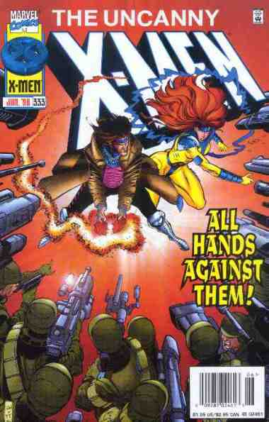 Uncanny X-Men comic book cover #333