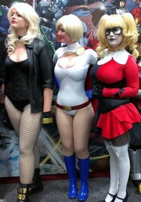 Sexy Black Canary, Power Girl, Harley Quinn Cosplay