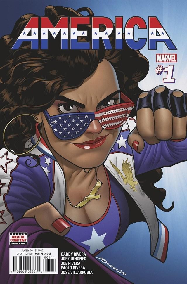 'America' #1 Cover by Joe Quinones (Marvel)