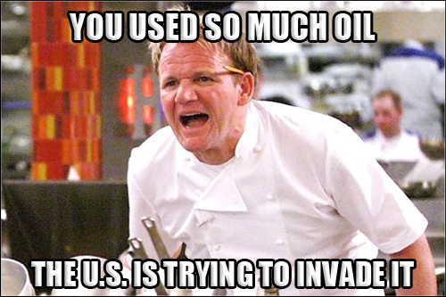 Gordon Ramsay Angry Kitchen OIL INVADE