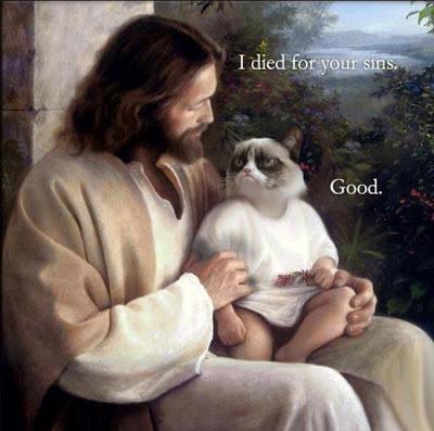 Jesus grumpy cat meme