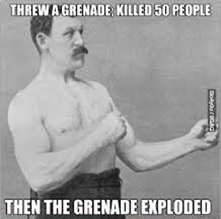 overly manly man -grenade killed 50