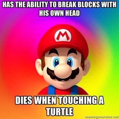 mario video gaming logic meme 2