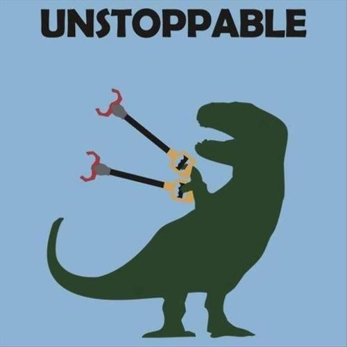 unstoppable t-rex meme