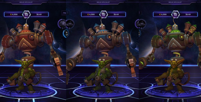 heroes storm Gazlowe skins default
