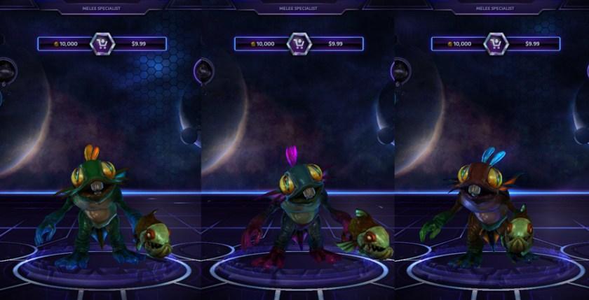 heroes storm Murky skins default