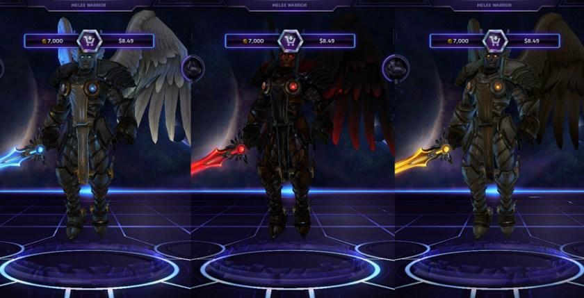 heroes storm Tyrael skins seraphim