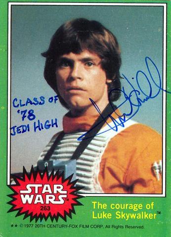 Mark Hamill Star Wars Trading Card Joke 013 Class Of 78 Jedi High
