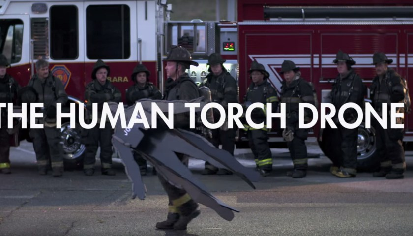 human torch drone fantastic four movie stunt 003