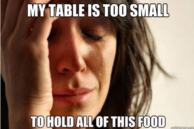 thanksgiving meme 013 table too small