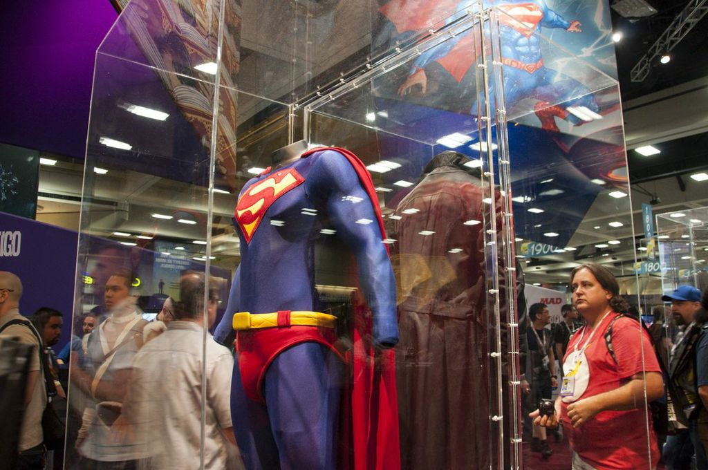 Dean Cain Supes Costume, Superman, DC, Lois and Clark, SDCC2013, San Diego Comic Con