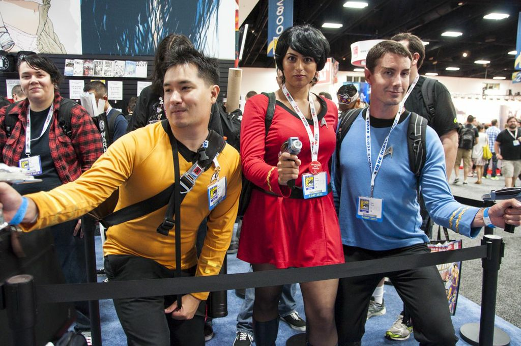 SDCC2013, San Diego Comic Con, Star Trek The Original Series, Trekies, Uhura, Bones, Sulu
