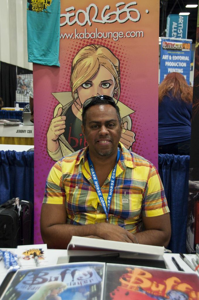 Georges Jeanty, Buffy Artist, SDCC2013, San Diego Comic Con, artist alley, Buffy comics season 9