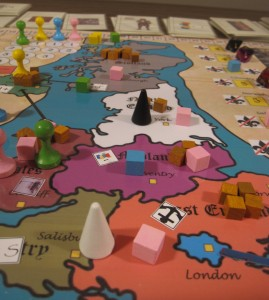 Picture of the prototype of the KILL SHAKESPEARE board game.