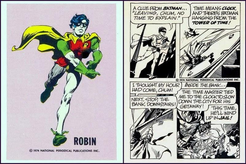 Robin - Batman DC Comics Trading Card - Comic Strip