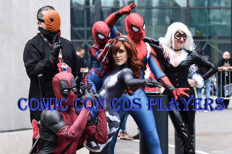 Comic Con cosplayers pose during 2017 New York Comic Con - Day 1 on October 5, 2017 in New York City