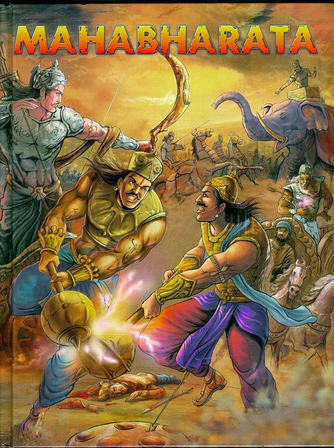 Mahabharat Hradcover English - Om Books Artist - Dilip Choubey