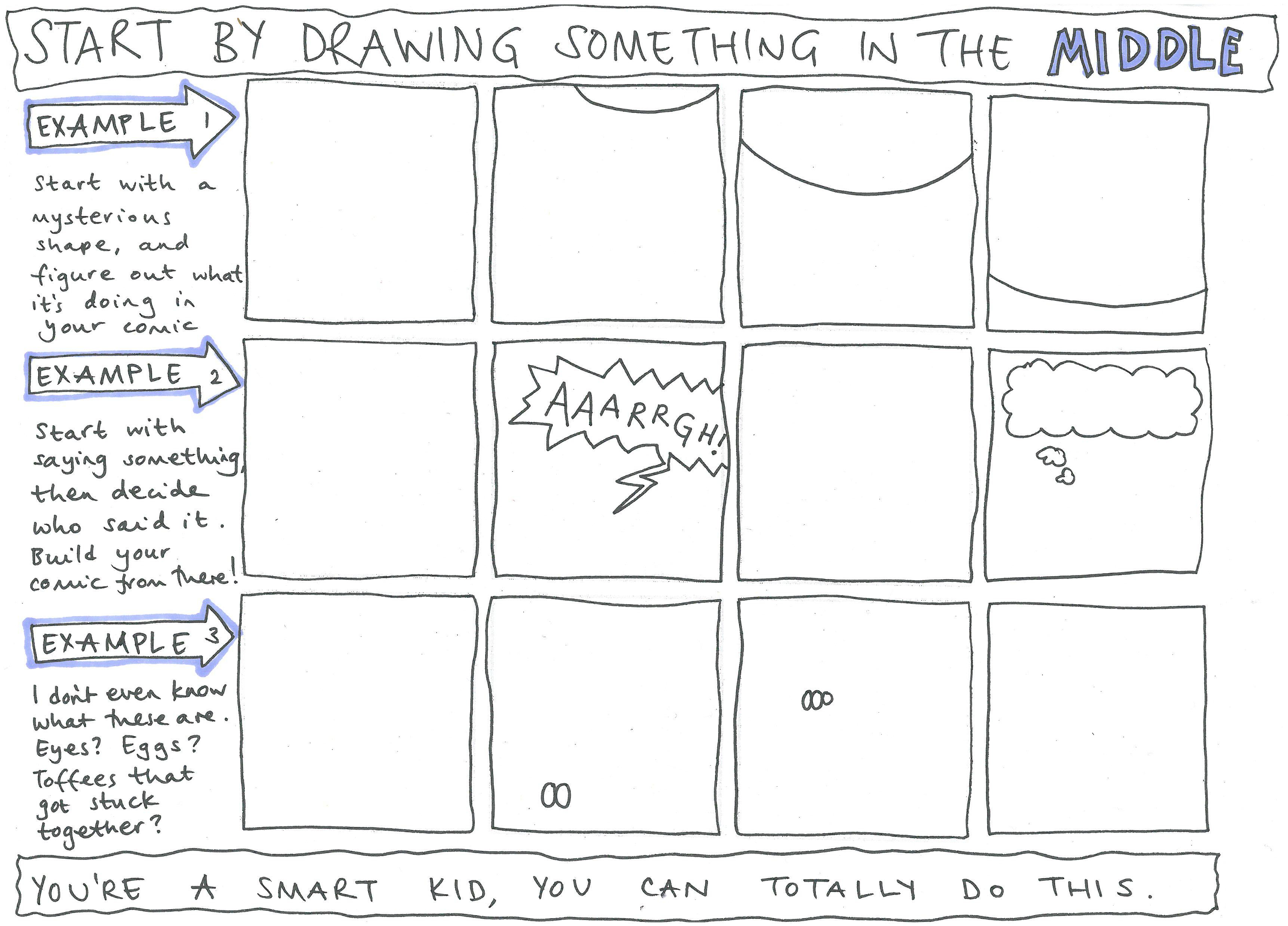 Create Your Own Comic Worksheet