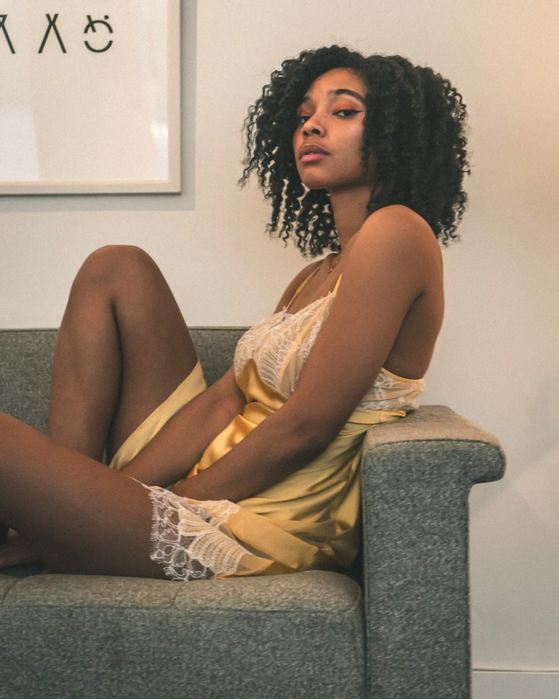 Layneau silk chemise comics girls need bras