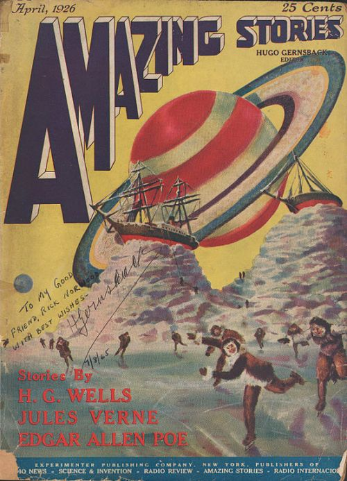 "First Issue of ""Amazing Stories,"" April 1926"