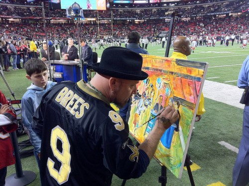 Frenchy sports painting live