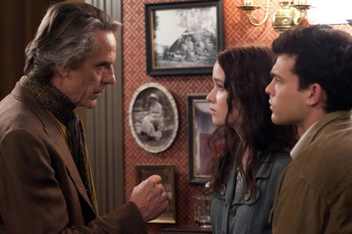 Jeremy Irons, Alice Englert, and Alden Ehrenreich