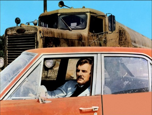"Dennis Weaver in Steven Spielberg's ""Duel,"" written by Richard Matheson"