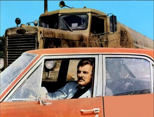 "Dennis Weaver in Steven Spielberg's ""Duel,"" written by Richard Matheson"