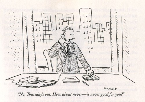 """Bob Mankoff's """"How About Never--Is Never Good for you?"""" from 1993"""