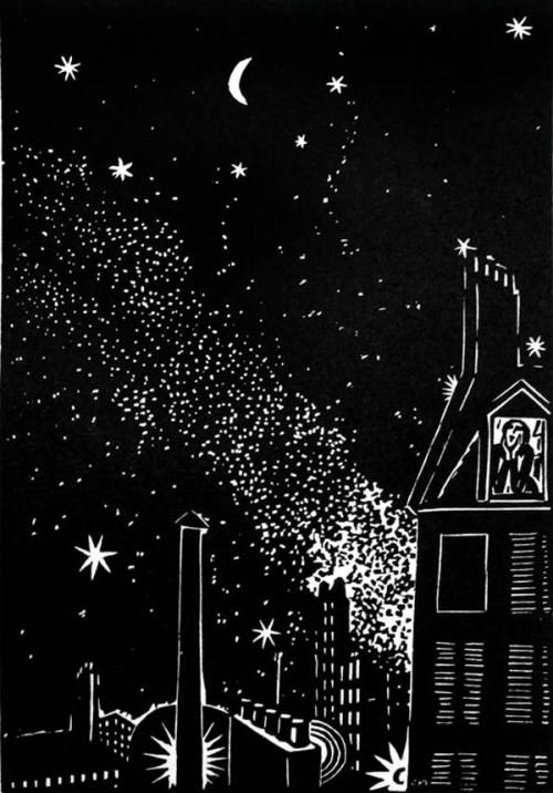 """From """"The City,"""" by Frans Masereel (1889-1972), first published in Germany, 1925"""
