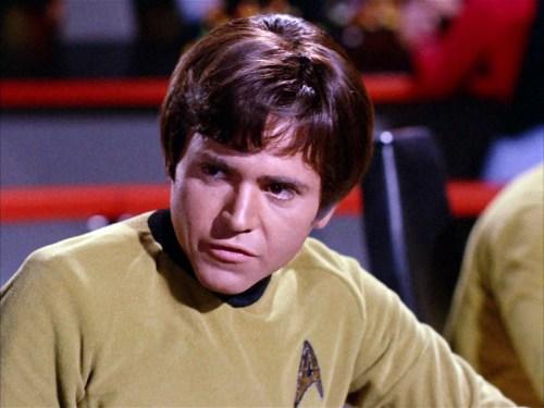 "Walter Koenig as Pavel Chekov in ""Star Trek"""