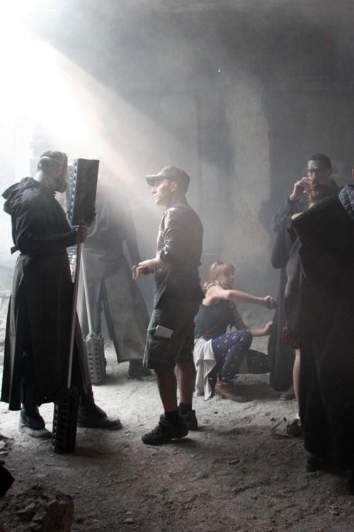 Director Marco Kalantari on set of THE SHAMAN
