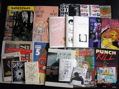 The Short Run comics haul compiled by Henry Chamberlain and Jennifer Daydreamer