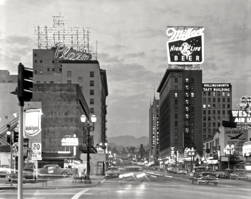 Photo by Ralph Morris, Hollywood Blvd. 1960