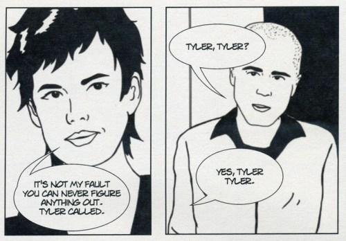 Panel excerpt from YEARBOOK HERO