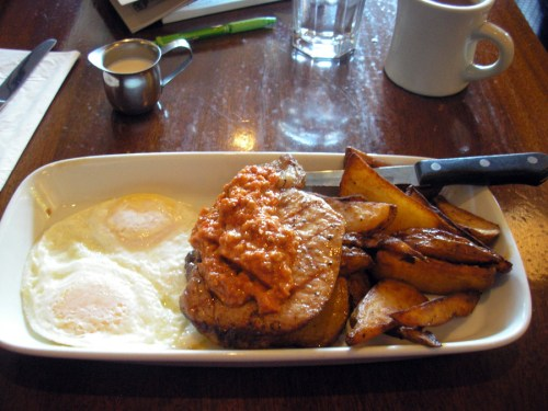 Pork Chops & Eggs at Coastal Kitchen