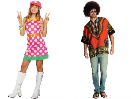 Go Go Girl and Hippie costumes from PureCostumes.com