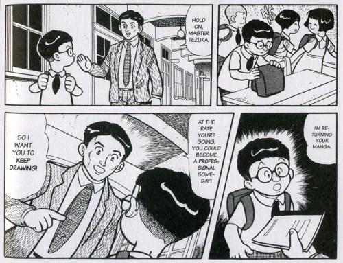 Osamu Tezuka, as a boy, shows promise.